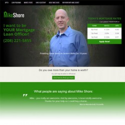 Mike Shore Mortgage website