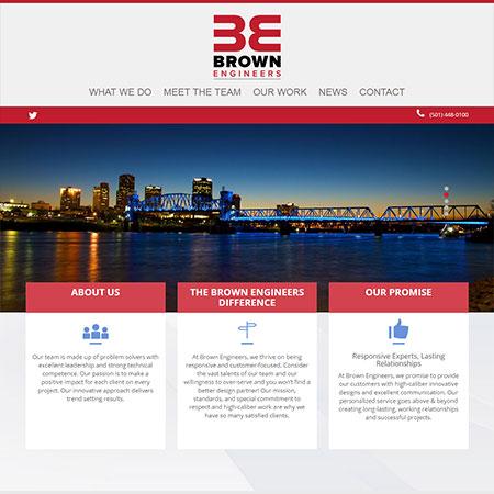 Brown Engineers website redesign