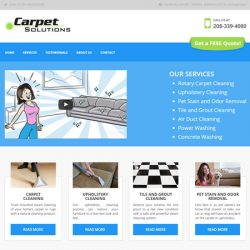 Carpet Solutions redesigned website