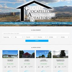 Greater Pocatello Association of Realtors website redesign